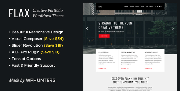 Flax - A Multi-Purpose Portfolio WordPress Theme