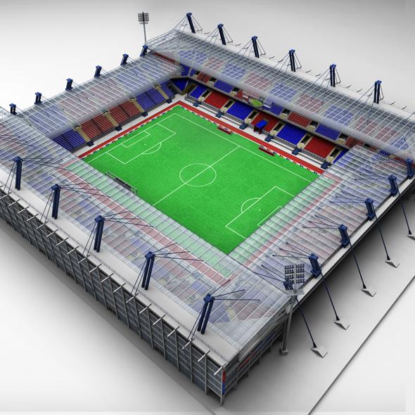 Soccer football stadium high detail - 3DOcean Item for Sale
