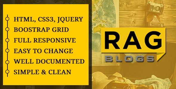 Rag - Blog Magazine HTML Template