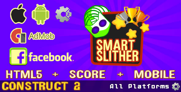 Smart Slither (Admob Ads supported & FaceBook) - CodeCanyon Item for Sale