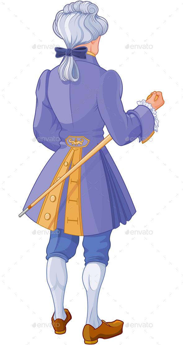 Gentleman in Blue Suit - People Characters