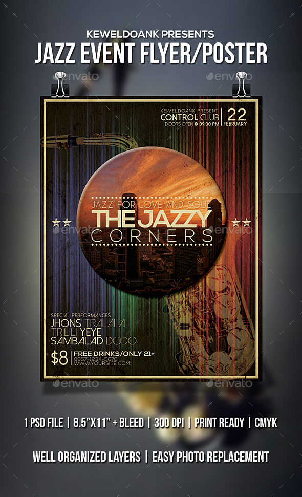 Jazz_Event Flyer / Poster - Events Flyers