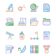 Education Colour Line Icons - GraphicRiver Item for Sale