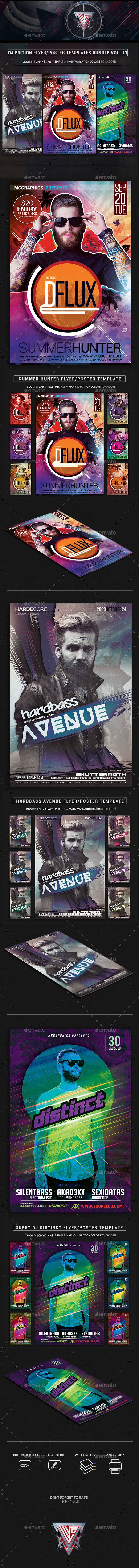 Guest DJ Party Flyer/Poster Bundle Vol. 11 - Events Flyers