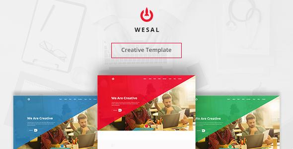 Wesal | Creative PSD Template