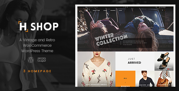 HSHOP – A Vintage and Retro WooCommerce WordPress Theme