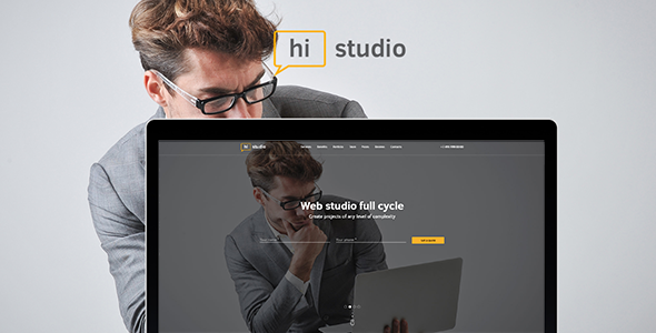 HiStudio | Creative Agency/Web Studio One Page Site Template - Corporate Site Templates