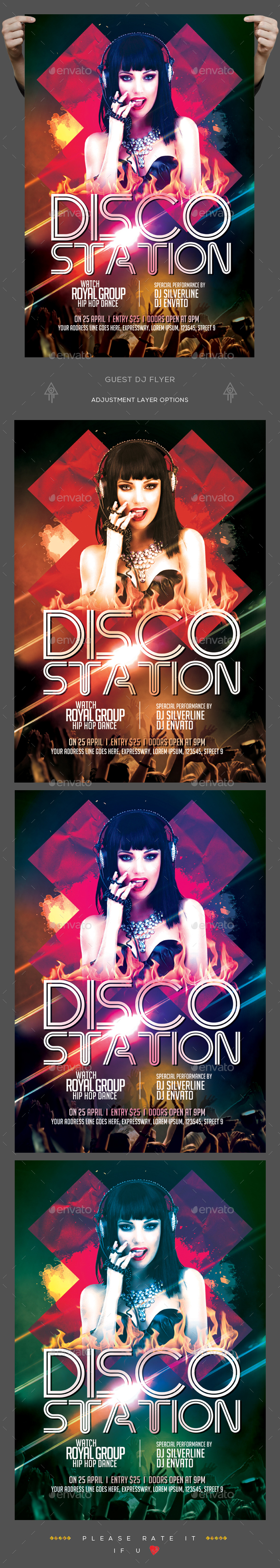 Disco Station Flyer - Clubs & Parties Events