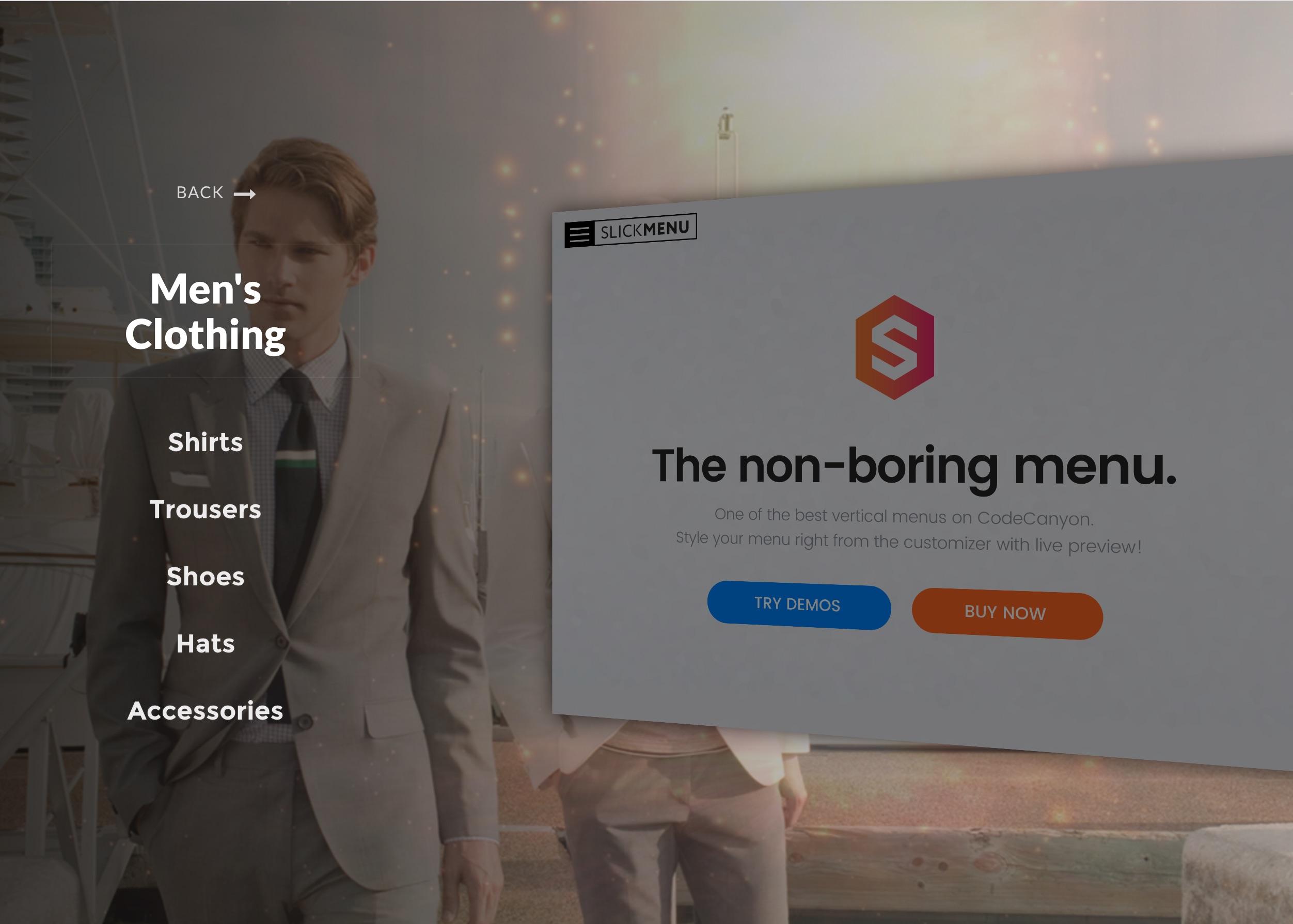 Slick Menu - Responsive WordPress Vertical Menu