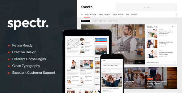 Spectr – Responsive News and Magazine WordPress Theme