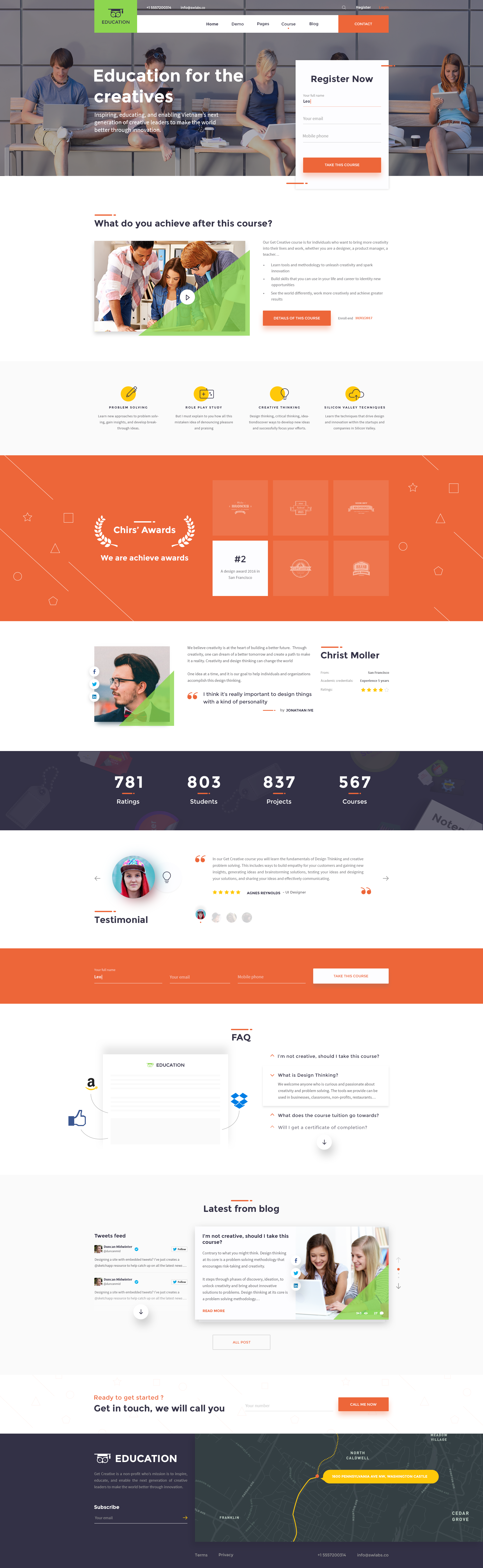 Education Psd Templates   Education Education Psd Template By Therubiktemplate Themeforest