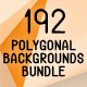 192 Polygonal Backgrounds Bundle - GraphicRiver Item for Sale