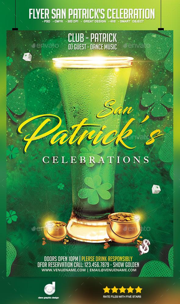 Flyer San Patrick's Celebration - Events Flyers