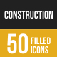 Construction Filled Low Poly B/G Icons - GraphicRiver Item for Sale