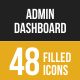 Admin Dashboard Filled Low Poly B/G Icons - GraphicRiver Item for Sale