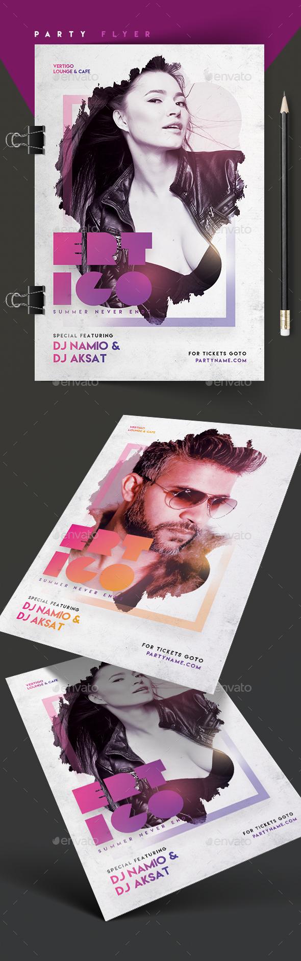 Ertigo Party Flyer - Clubs & Parties Events