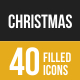 Christmas Filled Low Poly B/G Icons - GraphicRiver Item for Sale