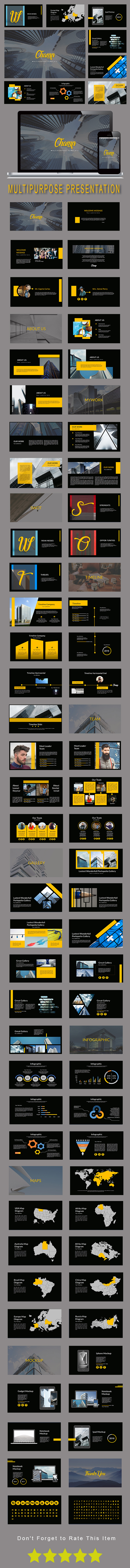 Champ Multipurpose Keynote Template - Keynote Templates Presentation Templates