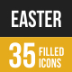 Easter Filled Low Poly B/G Icons - GraphicRiver Item for Sale