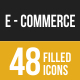 Ecommerce Filled Low Poly B/G Icons - GraphicRiver Item for Sale