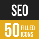 SEO Filled Low Poly B/G Icons - GraphicRiver Item for Sale