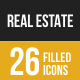 Real Estate Filled Low Poly B/G Icons - GraphicRiver Item for Sale