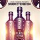 Black Bottle Party Flyer Template - GraphicRiver Item for Sale