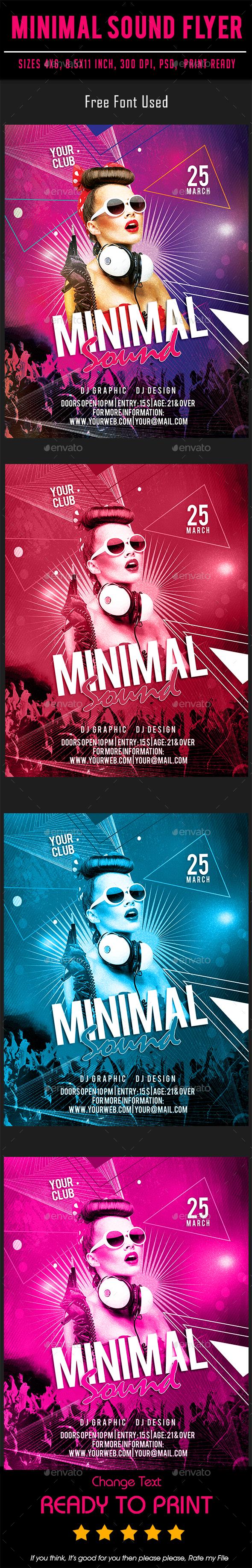 Minimal Sound Flyer - Events Flyers