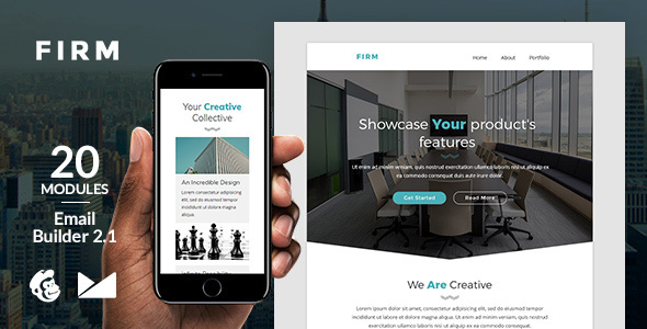 Firm Email Template + Online Emailbuilder 2.1