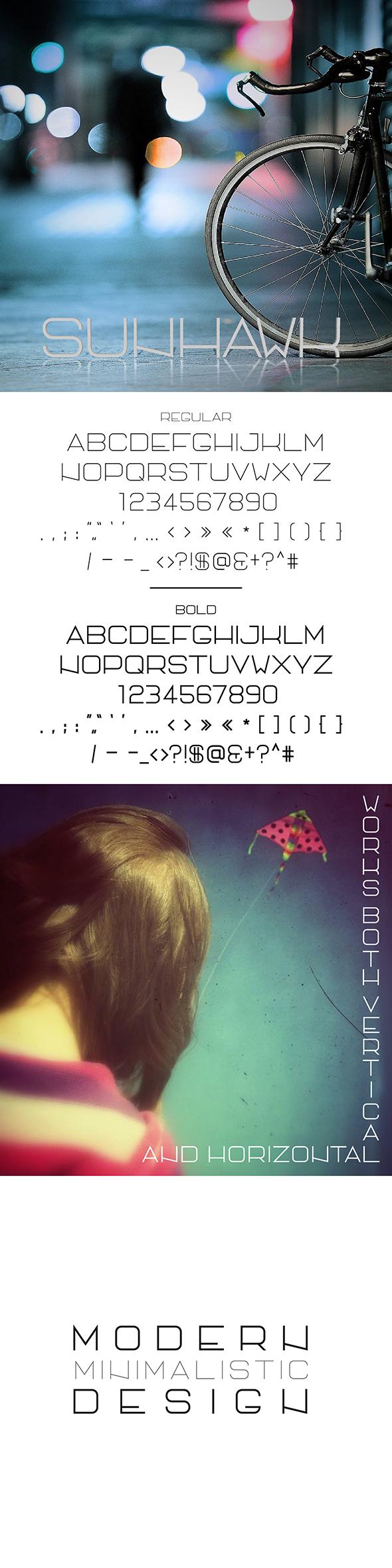 SunHawk All Caps - Sans-Serif Fonts