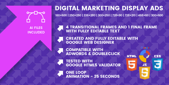 Digital Marketing Display Ads - Animated HTML5 Google Banner Templates - CodeCanyon Item for Sale