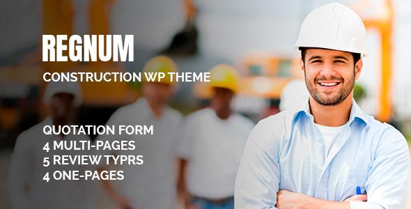 Regnum Construction | Construction Building Theme