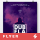 Dub Flames - Dubstep Party Flyer / Poster Template A3