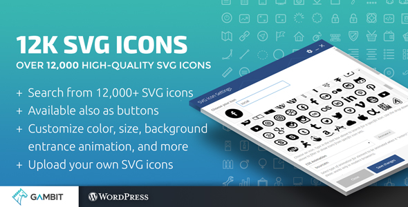 12k SVG Icons for Visual Composer - CodeCanyon Item for Sale