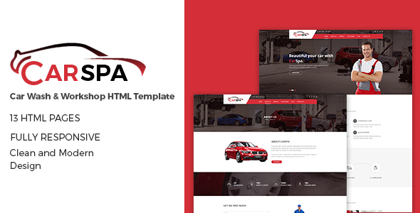 Carspa – Car Repair HTML5 Template