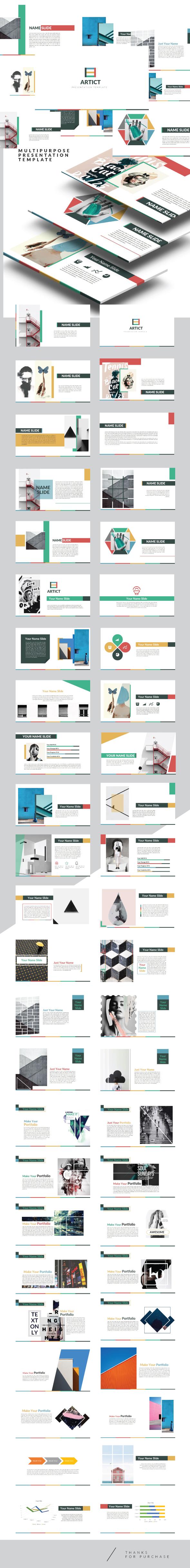 Artic - Multipurpose Powerpoint Creative template - Creative PowerPoint Templates