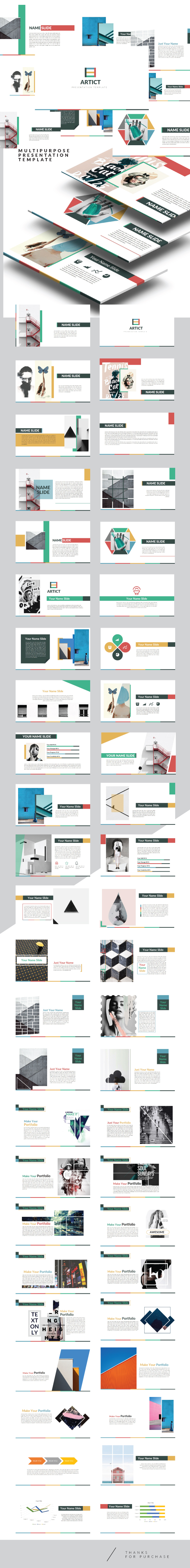 Artic - Multipurpose Keynote Creative template - Creative Keynote Templates