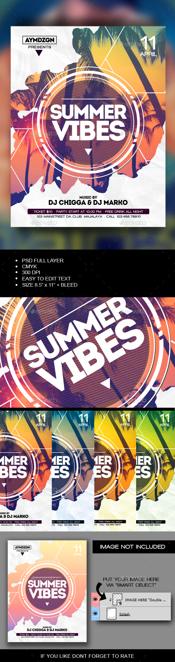 Summer Vibes Flyer - Events Flyers