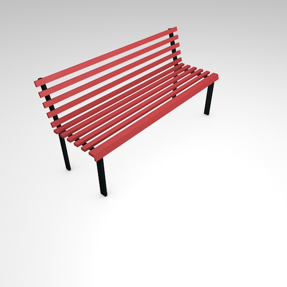 wooden bench - 3DOcean Item for Sale