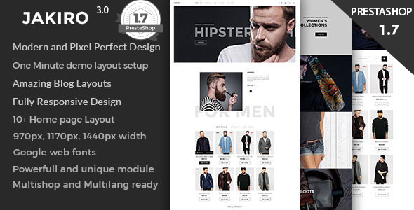 Jakiro Fashion Shop Prestashop 1.6 and 1.7 Theme