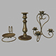 Candle holder set - 3DOcean Item for Sale