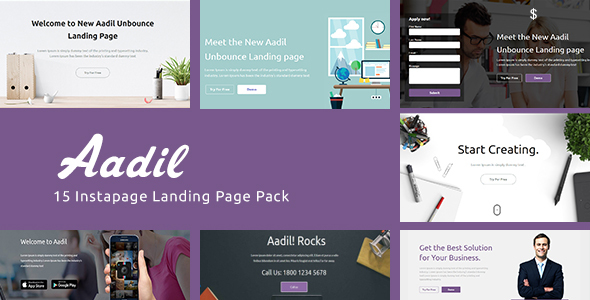 instapage Onepage Template - Aadil - Instapage Marketing
