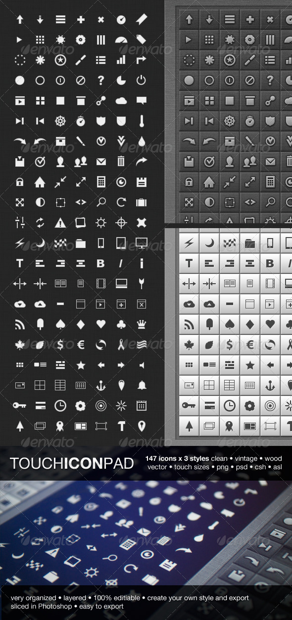 147 Touch Icon Pad icons - Web Icons
