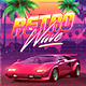 Retrowave 80's Synthwave Flyer - GraphicRiver Item for Sale