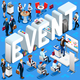 Event Isometric People Icon 3D Set Vector Illustration