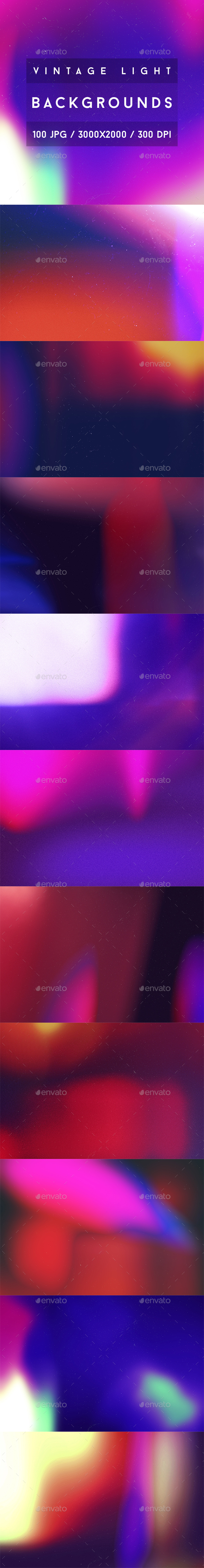 100 Vintage Light Backgrounds - Abstract Backgrounds