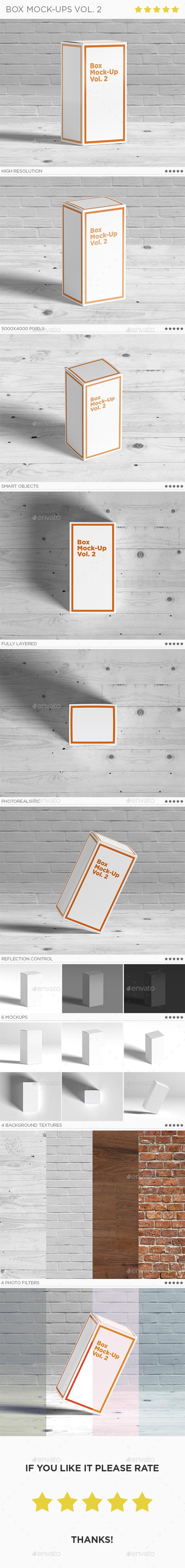 Box Mock-Ups vol. 2 - Packaging Product Mock-Ups