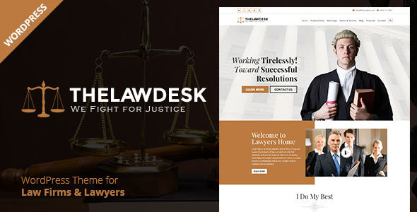 Law Desk – Lawyer Attorney WordPress Theme