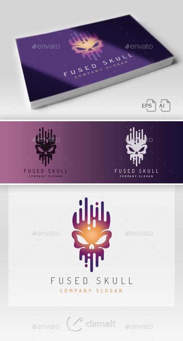 Fused Skull Logo - Symbols Logo Templates