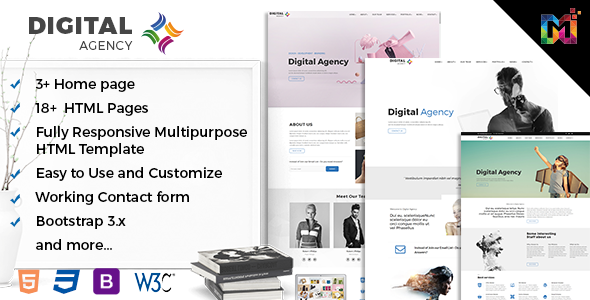 Responsive HTML Multipurpose Template – Digital Creative Agency
